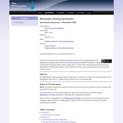 Welcome to the Bibliographic Ontology Website | The Bibliographi
