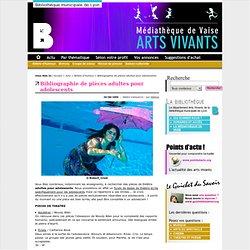 Bibliographie de pièces adultes pour adolescents - Arts Vivants BM Lyon