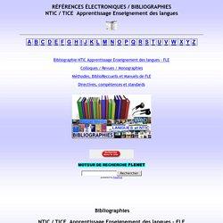 Bibliographie, FLE, français langue étrangère, NTIC, Apprentissage Langues Enseignement TICE