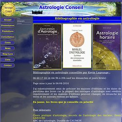 Bibliographie en astrologie