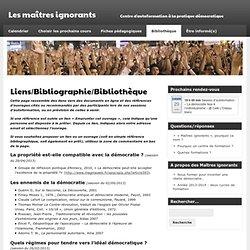 Les maîtres ignorants » Liens/Bibliographie/Bibliothèque