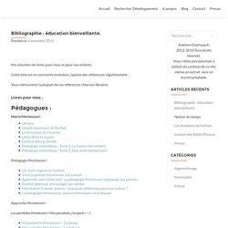 Bibliographie : éducation bienveillante. - Adeline Charneau