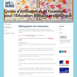 Bibliographie - CAFE BILINGUE