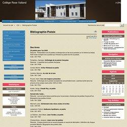 Bibliographie-Poésie - Collège Rose Valland