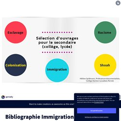 Bibliographie Immigration / Racisme / Colonisation by Hélène on Genially