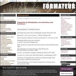 Bibliographie - FORMATEUR