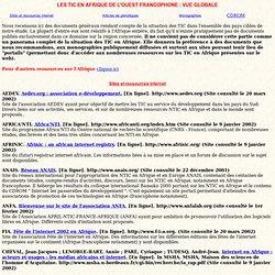 Bibliographie NTIC Afrique de l'ouest francophone