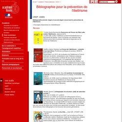 Bibliographie pour la prévention de l'illettrisme