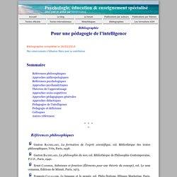 Bibliographie pour une pédagogie de l'intelligence