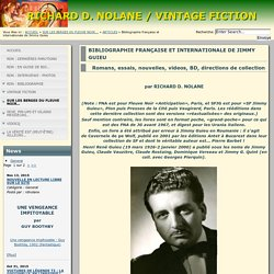 RICHARD D. NOLANE / VINTAGE FICTION - BIBLIOGRAPHIE FRANÇAISE ET INTERNATIONALE DE JIMMY GUIEU