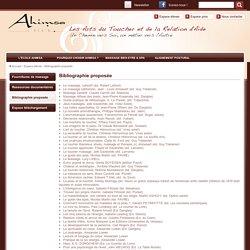 Bibliographie proposée par l'école du massage de bien-être