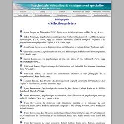 Bibliographie 'Sélection privée'