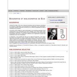 Umberto Eco : Biographie et bibliographie