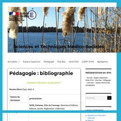 Pédagogie : bibliographie – Sciences et Techniques Médico-Sociales