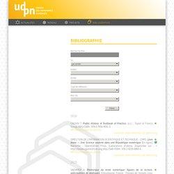 Bibliographie - UDPN