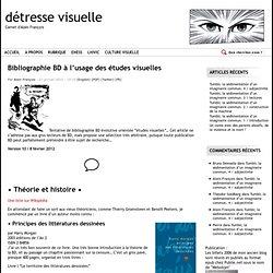 Bibliographie BD à l'usage des études visuelles