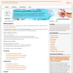 Bibliographies thématiques de la BDSP : mise à jour automatique
