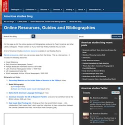 Guides and Bibliographies - Americas Collections Blog