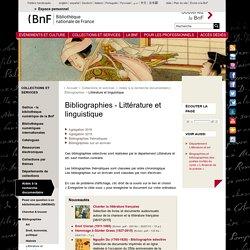 Bibliographies - Littérature et linguistique