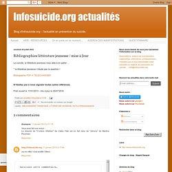 Infosuicide.org actualités: Bibliographies littérature jeunesse / mise à Jour