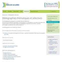 Bibliographies sélectives - Acteurs FPC