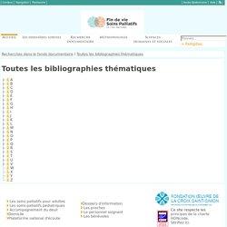 VigiPallia : Toutes les bibliographies thématiques