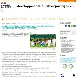 Revue bibliographique et scientifique des études d'impact environnemental des (...) - Sport et développement durable