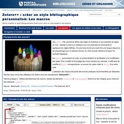 Les macros - Zotero++ : créer un style bibliographique personnalisé - BiblioGuides at Sorbonne Universités