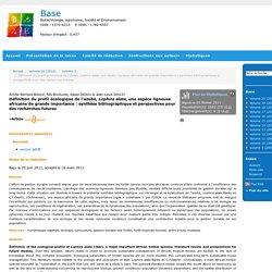 Définition du profil écologique de l'azobé, Lophira alata, une espèce ligneuse africaine de grande importance: synthèse bibliographique et perspectives pour des recherches futures