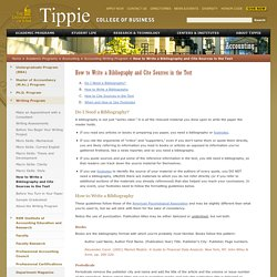 How to Write a Bibliography and Cite Sources in the Text - Accounting Writing Program - Tippie College of Business - The University of Iowa