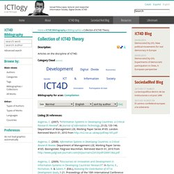 ICT4D Bibliography » Bibliographies » Collection of ICT4D Theory