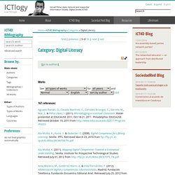 ICT4D Bibliography » Categories » Digital Literacy