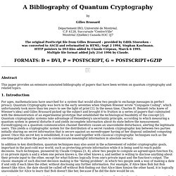 Bibliography of Quantum Cryptography