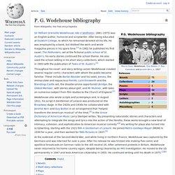 P. G. Wodehouse bibliography