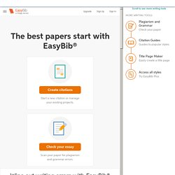 EasyBib: Free Bibliography Maker - MLA, APA, Chicago citation styles