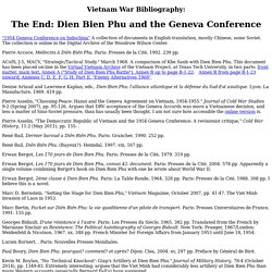 Moïse's Bibliography: Dien Bien Phu and the Geneva Conference