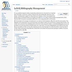 Bibliography Management