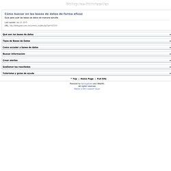 Buscar en bases de datos de forma eficaz: guia (UnEx)