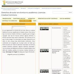 Licencias Creative Commons - Derechos de autor en el entorno académico - Biblioguías at Universidad de Extremadura. Biblioteca