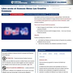 Les Creative Commons - Libre accès et licences libres