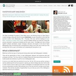 Hackathon alert: BiblioHack!