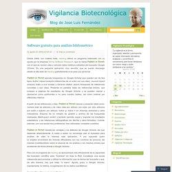 Software gratuito para análisis bibliométrico