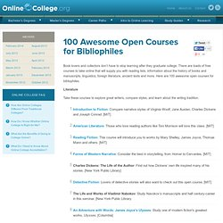 100 Awesome Open Courses for Bibliophiles