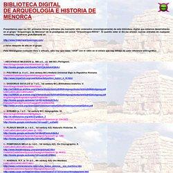 BIBLIOTECA DIGITAL DE ARQUEOLOGÍA E HISTORIA DE MENORCA