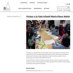 Biblioteca del Congreso de la Nación - Visitas a la Sala Infantil María Elena Walsh