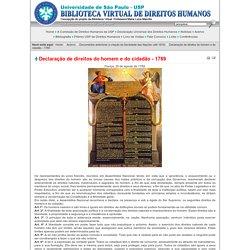 Biblioteca Virtual de Direitos Humanos da USP - Declaração de direitos do homem e do cidadão - 1789