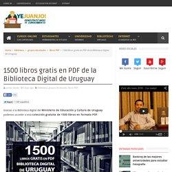 1500 libros gratis en PDF de la Biblioteca Digital de Uruguay