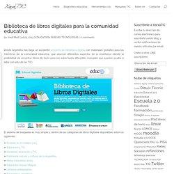 Biblioteca de libros digitales para la comunidad educativa