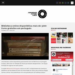 Biblioteca online disponibiliza mais de 3000 livros gratuitos em português – Comunidade Cultura e Arte