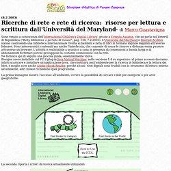 Biblioteca internazionale digitale e strumenti per la narrazione dalla Maryland University